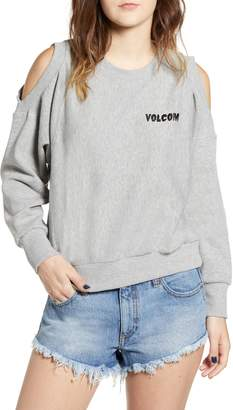 Volcom Edit N Crop Logo Sweatshirt