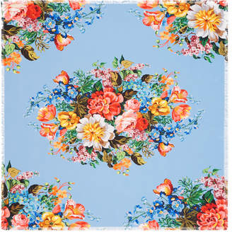 Floral print silk scarf $470 thestylecure.com