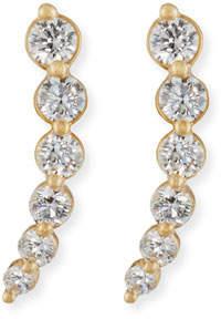 Rina Limor Fine Jewelry Curved Diamond Climber Earrings