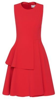 Hugo Boss Desessy Crepe A-Line Tiered Skirt Dress 8pink $1,295 thestylecure.com