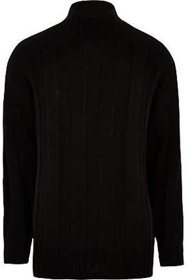 River Island Black turtle neck oversized sweater