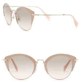 Miu Miu Typewriter 52mm Metal Frame Sunglasses