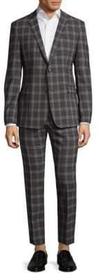 Strellson Cale Madden Slim Fit Plaid Suit