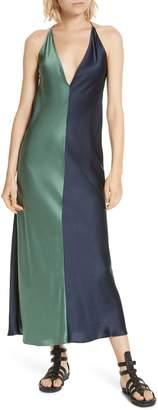 Lee MATHEWS Sierra Bicolor Silk Satin Slipdress