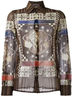 Jean Paul Gaultier Pre-Owned world print shirt