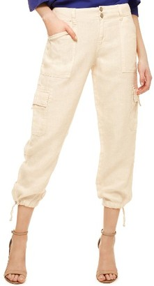Women's Sanctuary Terrain Linen Crop Cargo Pants $99 thestylecure.com