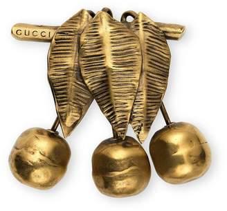 Gucci Metal cherries brooch