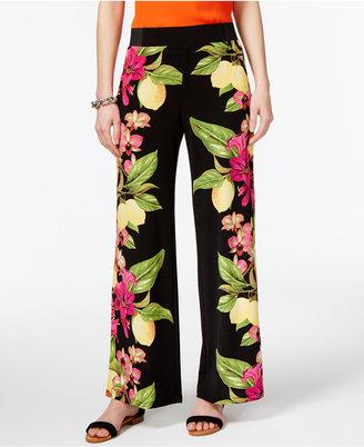 Inc International Concepts Lemon-Print Soft Pants, Created for Macy's $69.50 thestylecure.com