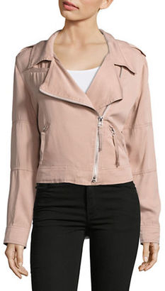 Kensie Jeans Knit Moto Jacket $78 thestylecure.com