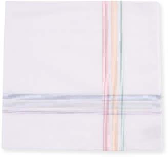 Simonnot Godard Men's Rainbow Border Handkerchief