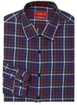 Saks Fifth Avenue RED Trim-Fit Multicolored Dress Shirt