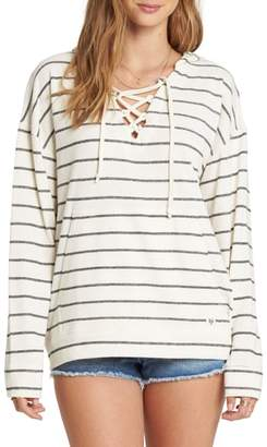 Billabong Weekend Lover Stripe Lace-Up Hoodie