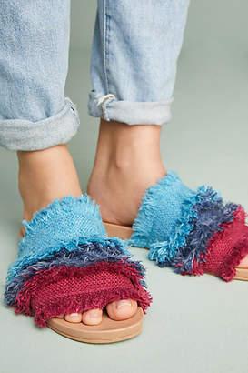Bill Blass Megan Frayed Slide Sandals