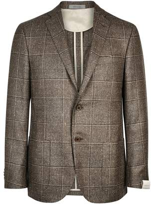 Corneliani Checked Wool