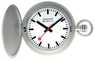 Mondaine SBB Pocket Watch - Savonette - Stainless Steel and Chain - Swiss Made