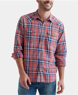 Lucky Brand Men Plaid Woven Shirt