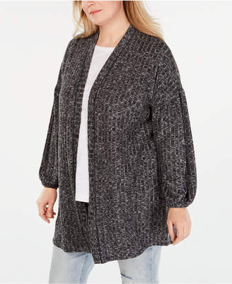 Style&Co. Style & Co Plus Size Bishop-Sleeve Open-Front Cardigan