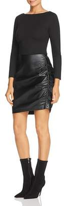Kenneth Cole Knit & Faux-Leather Dress