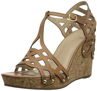 Adrienne Vittadini Footwear Women's Cherris Wedge Sandal $99 thestylecure.com