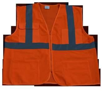 Petra Roc OVM24-L-XL Safety Vest Ansi Class 2 All Mesh 4-Pocket, Orange - Large & Extra Large