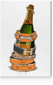 Oliver Gal Arm Candy Champagne Canvas Art, 30 x 45
