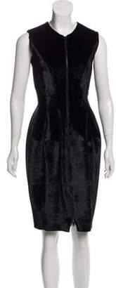 Derek Lam Sleeveless Knee-Length Dress Black Sleeveless Knee-Length Dress