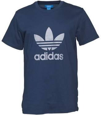 adidas Mens Trefoil T-Shirt Dark Indigo