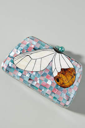 Serpui Marie Roxie Butterfly Box Clutch