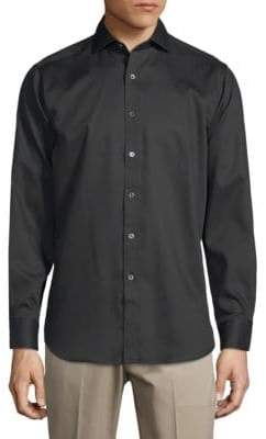 Bugatchi Classic Cotton Button-Down Shirt
