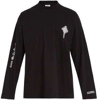 Vetements Crew-neck long-sleeved cotton T-shirt