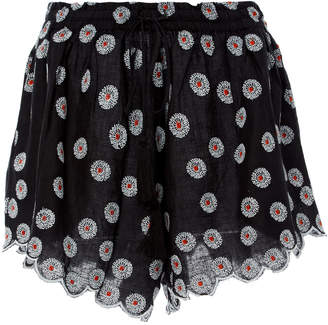 Acler Spencer Embroidered Broadcloth Shorts