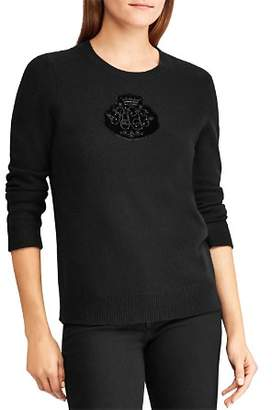 Ralph Lauren Embellished Logo Patch Sweater