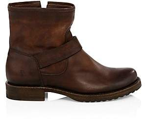 Frye Women's Veronica Bootie Redwood Leather Moto Boots
