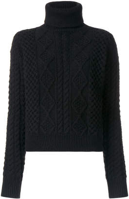 Saint Laurent cable knit turtleneck sweater