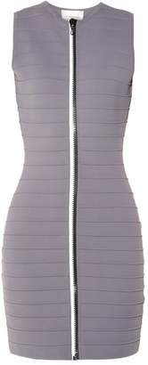 Christopher Kane - Zip Through Bandage Mini Dress - Womens - Grey