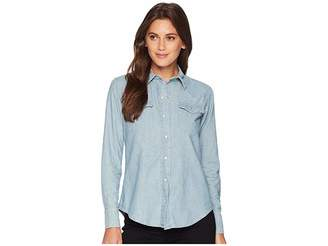 Lauren Ralph Lauren Chambray Western Shirt