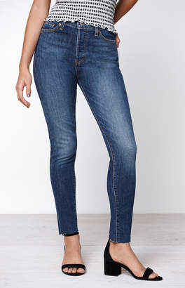 Levi's Dark Indigo Stone Wedgie Skinny Jeans