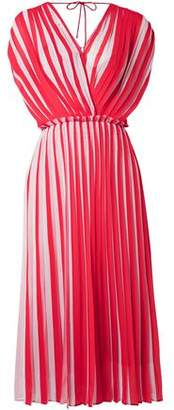 Tome Wrap-effect Pleated Georgette Dress