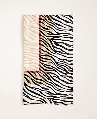 Ann Taylor Zebra Print Scarf