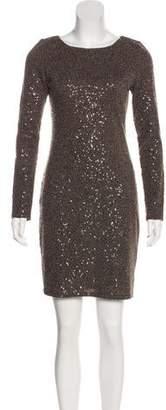 Alice + Olivia Bodycon Beaded Mini Dress