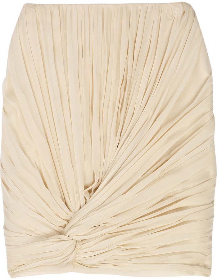 Jason Wu Silk-chiffon pleat-knot skirt