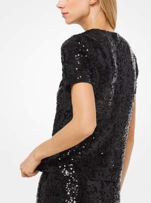 MICHAEL Michael Kors Sequined Jersey T-Shirt