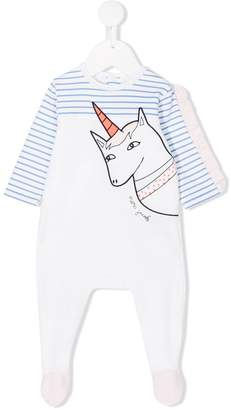 Little Marc Jacobs unicorn striped pyjamas