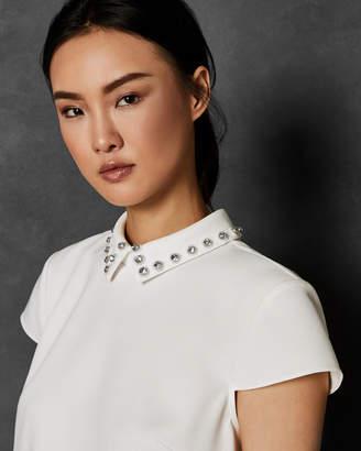 Ted Baker ALAYNAA Embellished collar top