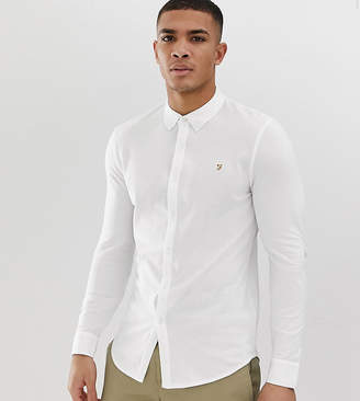 Farah Pique Jersey Shirt Exclusive in White