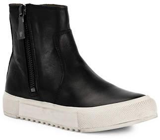 Frye Gia Lug Zip Leather Booties