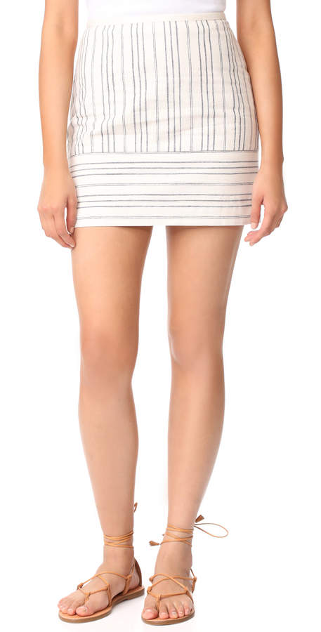 Madewell Gamine Miniskirt in Stripe Play