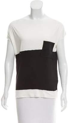 Bottega Veneta Contrasted Short Sleeve Top