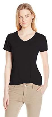 Dockers Women's V-Neck Stretch Short Sleeve Tee $5.36 thestylecure.com