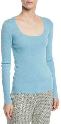 Etro Scoop-Neck Shimmered Sweater